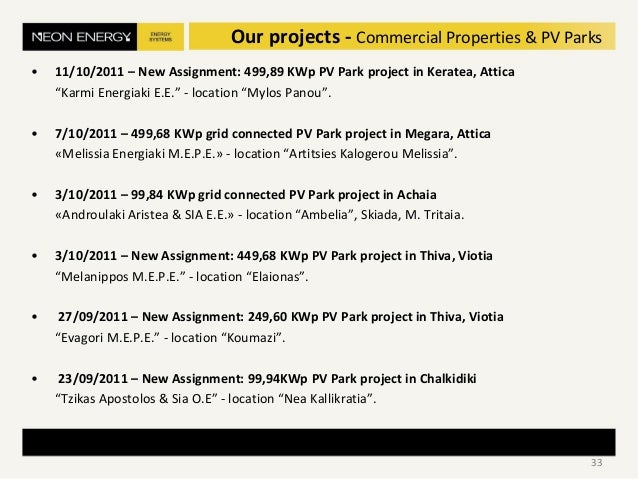 """• 11/10/2011 – New Assignment: 499,89 KWp PV Park project in Keratea, Attica """"Karmi Energiaki E.E."""" - location """"Mylos Pano..."""
