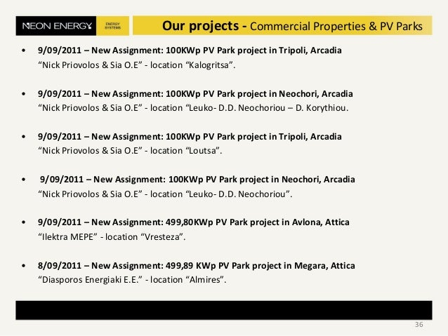"""• 9/09/2011 – New Assignment: 100KWp PV Park project in Tripoli, Arcadia """"Nick Priovolos & Sia O.E"""" - location """"Kalogritsa..."""