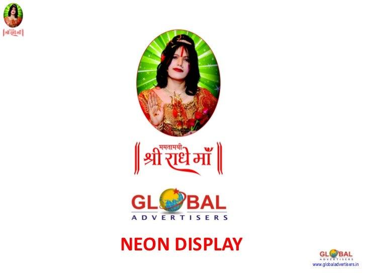 NEON DISPLAY               www.globaladvertisers.in