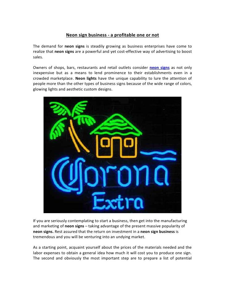business neon sign profitable signs slideshare
