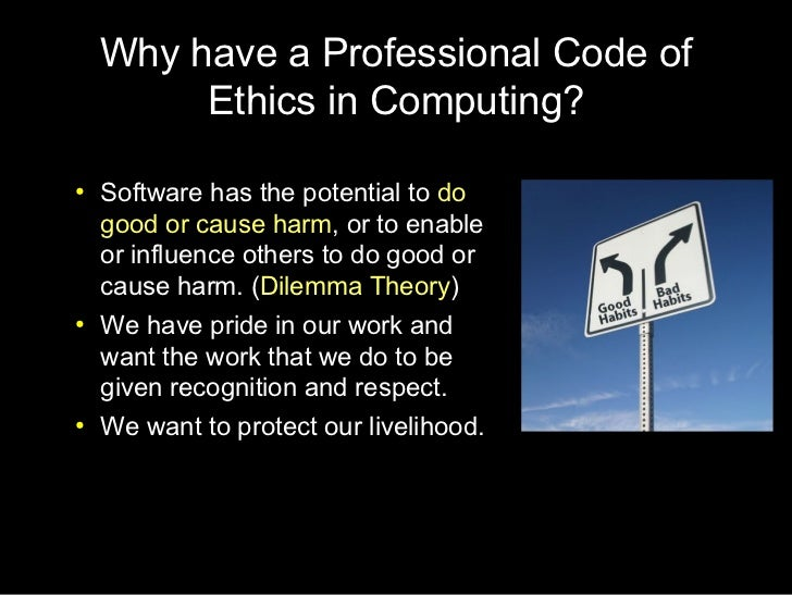 Professional Code of Ethics in Software Engineering