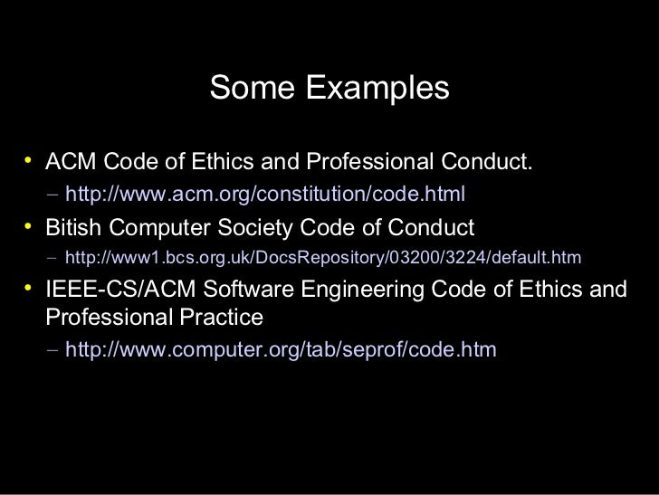Professional Code of Ethics in Software Engineering – Code of Conduct Example