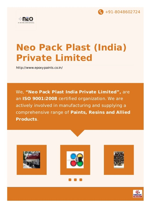 "+91-8048602724 Neo Pack Plast (India) Private Limited http://www.epoxypaints.co.in/ We, ""Neo Pack Plast India Private Limi..."