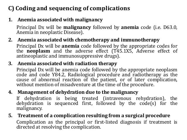 Neoplasm Icd 10 Guideline