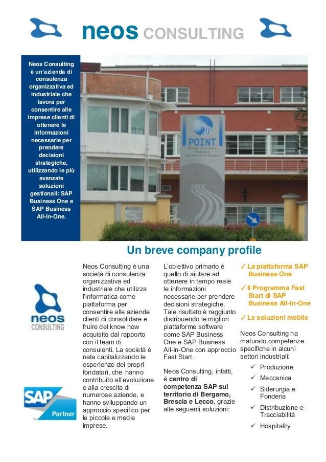 neos CONSULTING    Neos Consulting         consulenza     organizzativa ed      industriale che          lavora per      c...