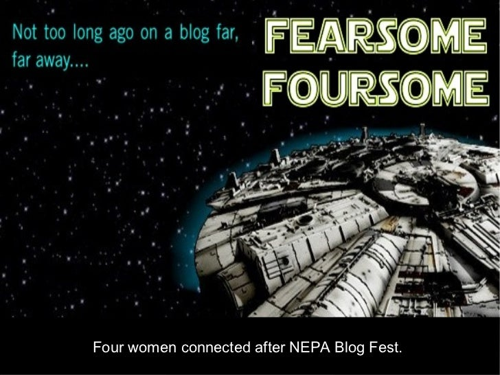 Four women connected after NEPA Blog Fest.