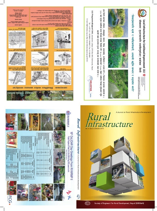 A Journal on Rural Infrastructure Development Society of Engineers' for Rural Development, Nepal (SERDeN) Vol. 4, Issue 4,...