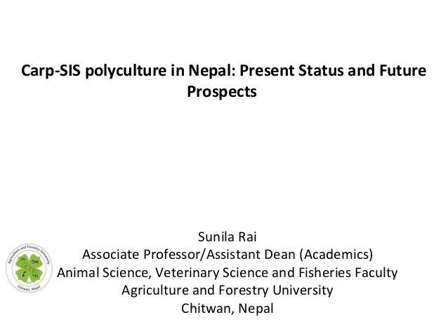 Sunila Rai Associate Professor/Assistant Dean (Academics) Animal Science, Veterinary Science and Fisheries Faculty Agricul...
