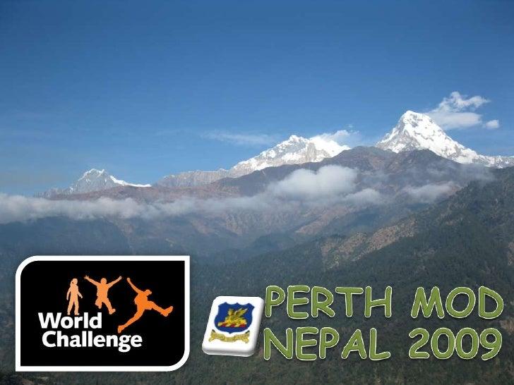 PERTH MOD<br />NEPAL 2009<br />