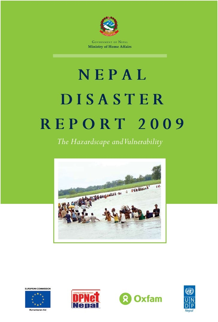 Nepal disaster report 2009