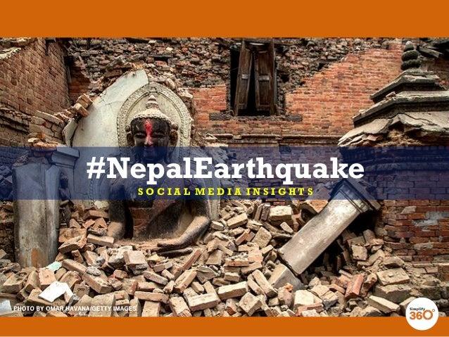 #NepalEarthquake S O C I A L M E D I A I N S I G H T S