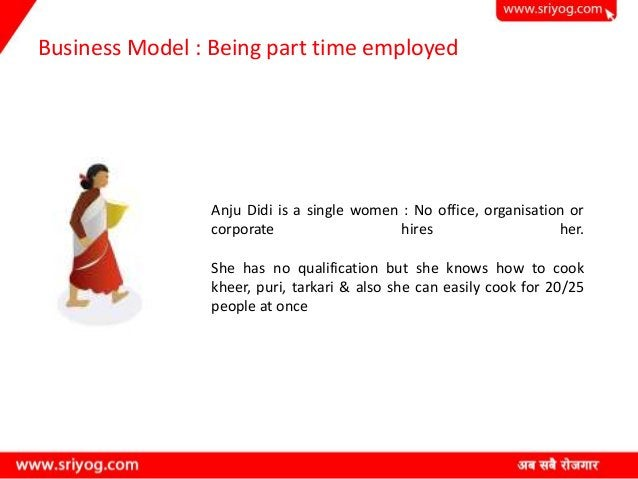 Business Model : Being part time employed Anju Didi is a single women : No office, organisation or corporate hires her. Sh...