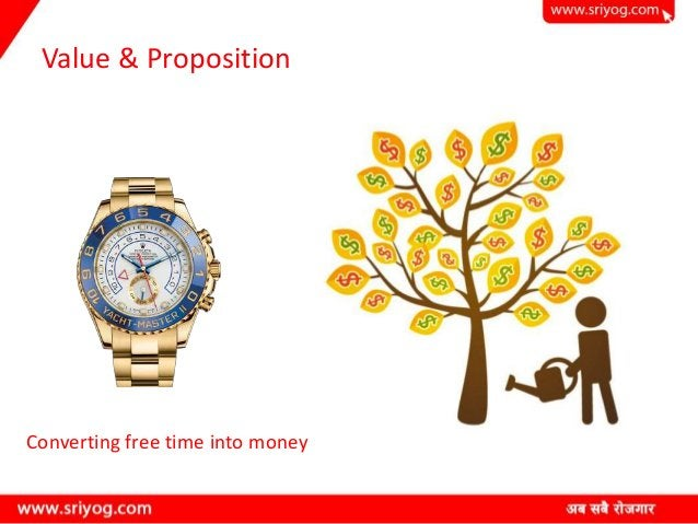 Value & Proposition Converting free time into money
