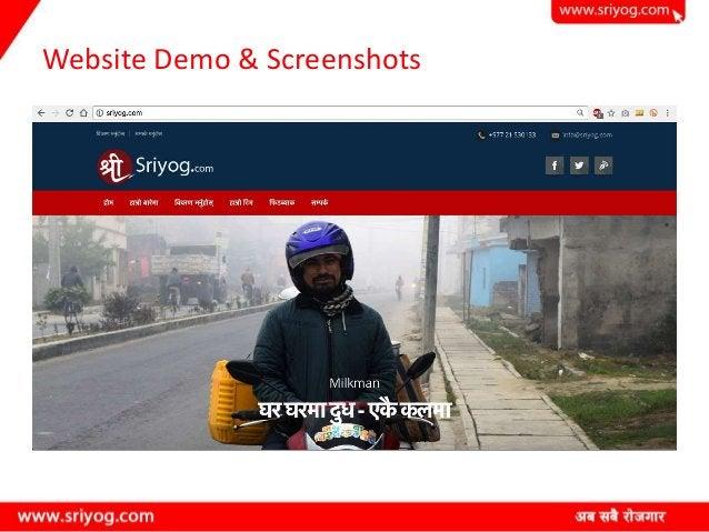 Website Demo & Screenshots
