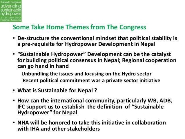 Iha 2013 World Congress Nepal Hydropower Association