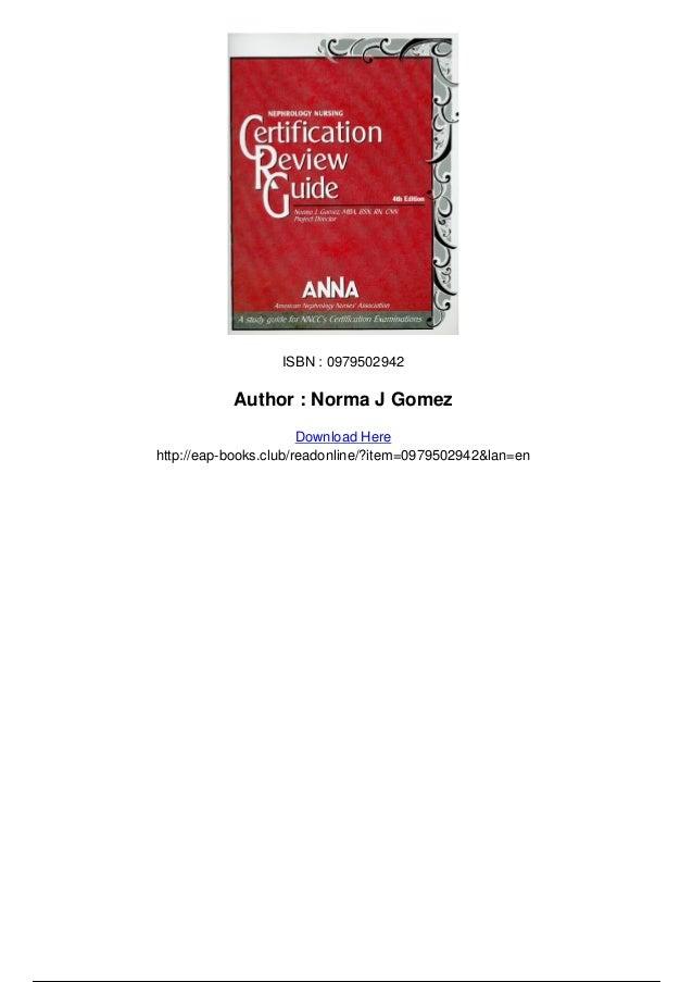 Nephrology nursing certification review guide pdf