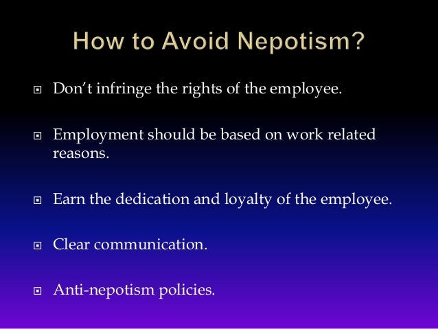 anti nepotism This 50-state table lists nepotism statutes or policies as they apply to state legislators.