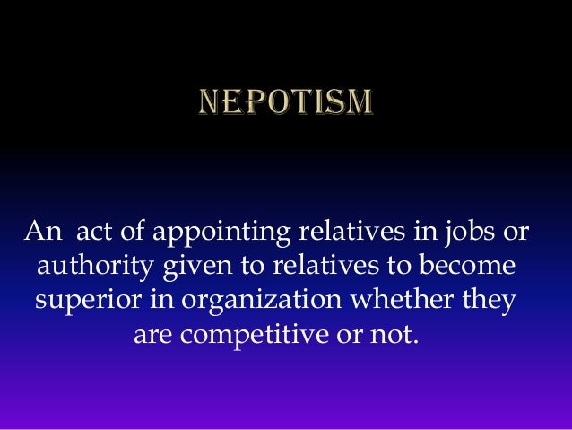 As someone who benefits from nepotism, I don't care about the arguments against it