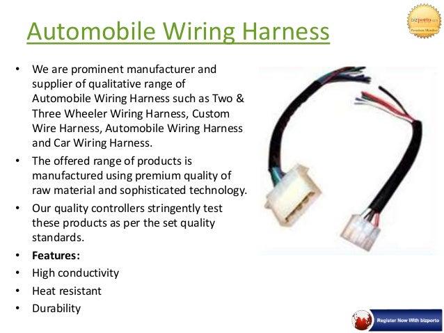 automobile wiring harness in pune neptune enterprises rh slideshare net automotive wiring harness kits automotive wiring harness tape