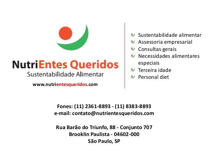 Sustentabilidade alimentar                                          Assessoria empresarial                                ...