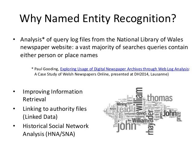 Named Entity Recognition for Europeana Newspapers Slide 3