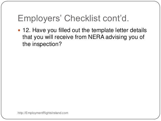Nera National Employment Rights Authority Ireland