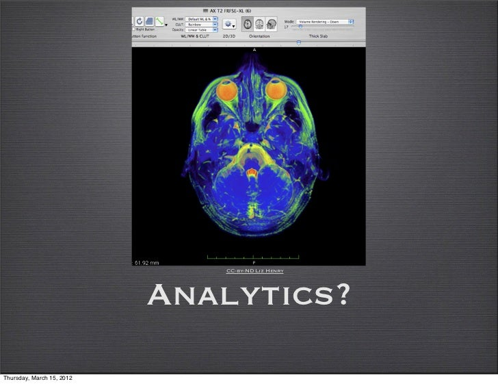 CC-by-ND Liz Henry                           Analytics?Thursday, March 15, 2012