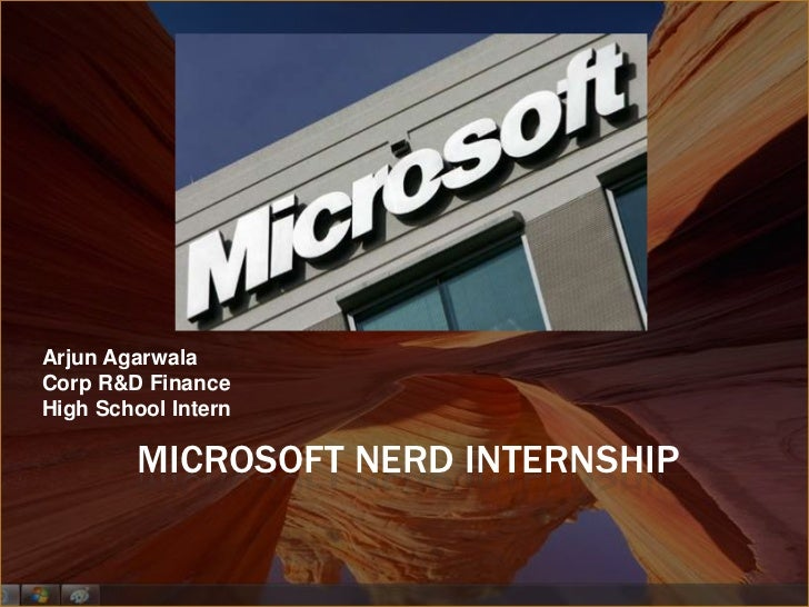 Microsoft Internship Summer Of 2009