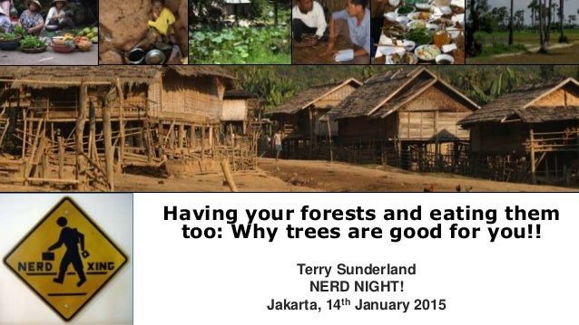 Having your forests and eating them too: Why trees are good for you!! Terry Sunderland NERD NIGHT! Jakarta, 14th January 2...