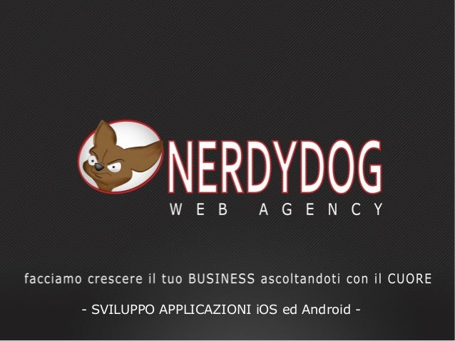 - SVILUPPO APPLICAZIONI iOS ed Android -