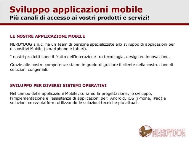 Sviluppo applicazioni mobile Slide 2