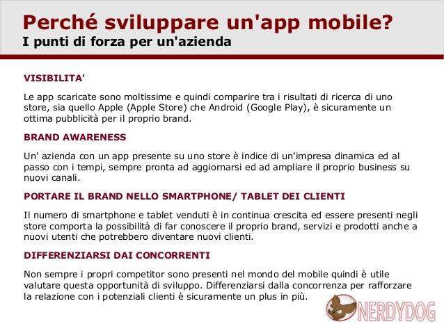 Sviluppo applicazioni mobile Slide 3