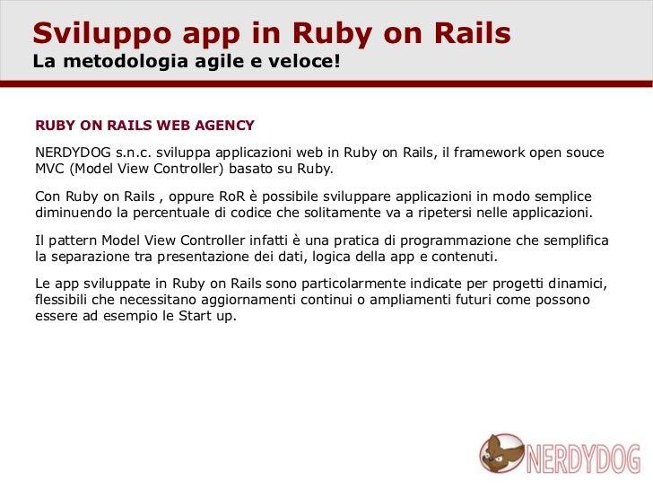 Sviluppo applicazioni in Ruby on Rails Slide 2