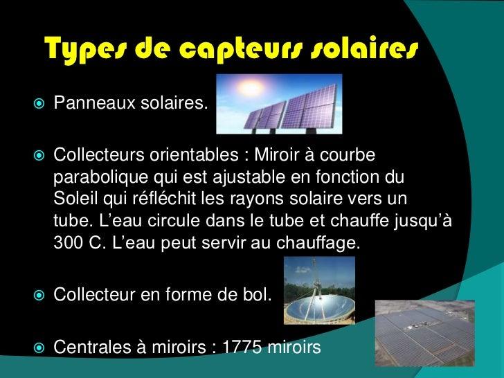 L 39 nergie solaire for Miroir solaire parabolique