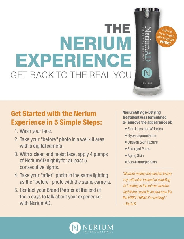 Nerium experience-flyer