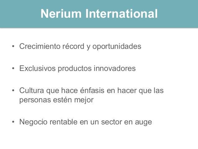 Nerium Experienca Presentación PowerPoint. Slide 2