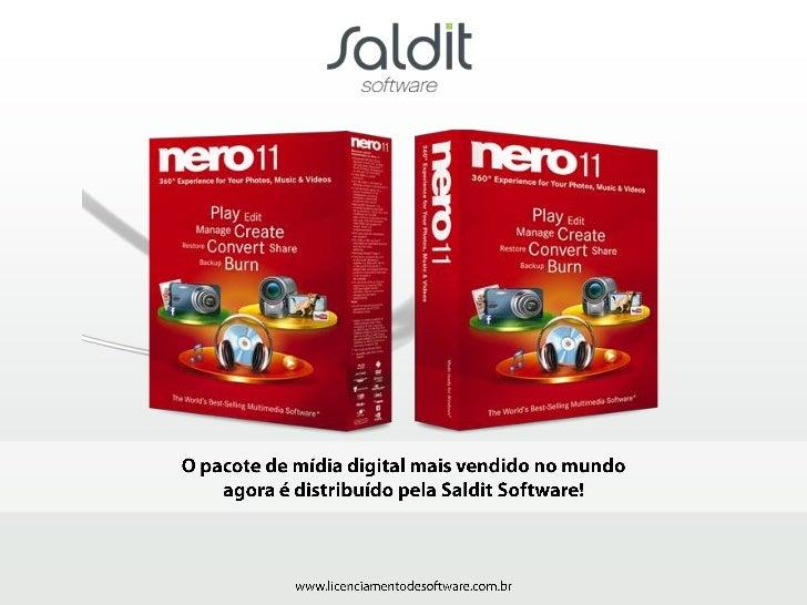 Características Principais      • A primeira versão do NERO foi a 1.0, lançada em 1995      • Software vem em DVD e é excl...