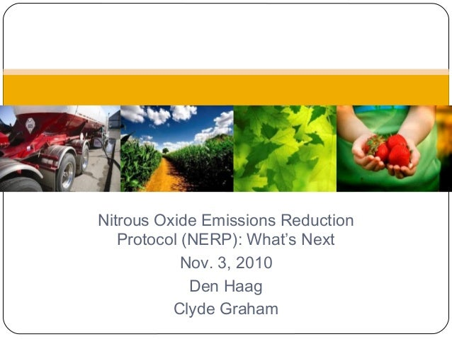 Nitrous Oxide Emissions Reduction Protocol (NERP): What's Next Nov. 3, 2010 Den Haag Clyde Graham