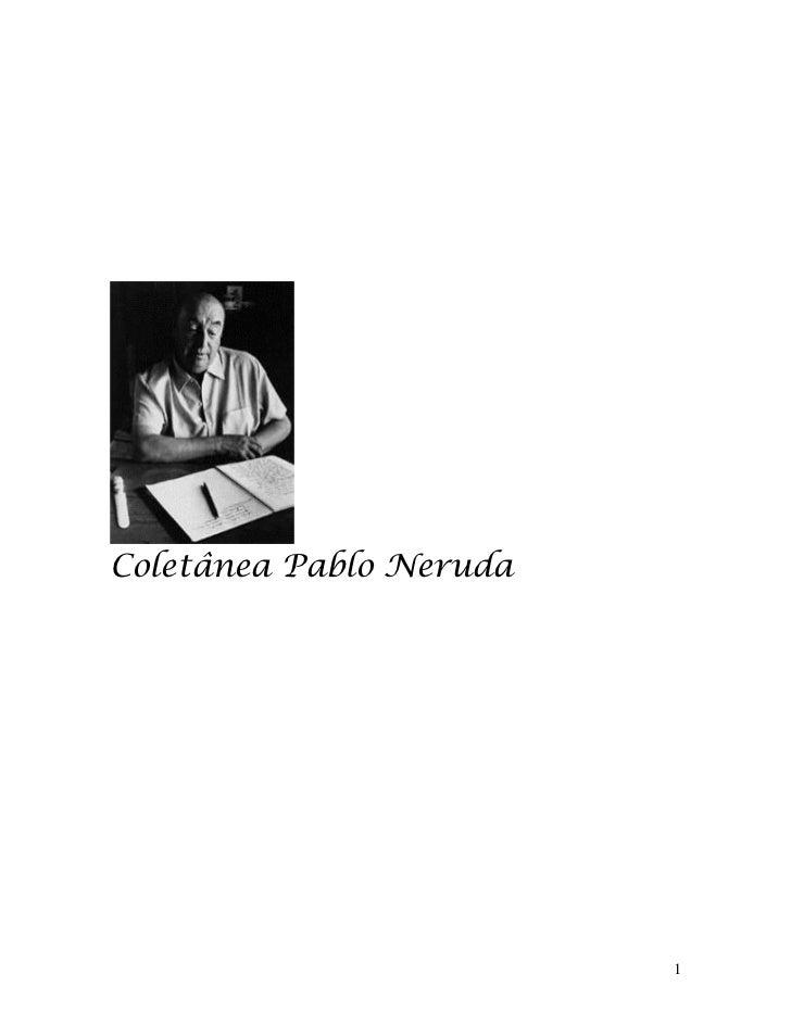 Coletânea Pablo Neruda                         1