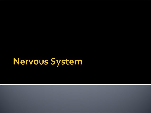  Introduction to the nervous system  Central vs. peripheral nervous system ▪ Autonomic vs. somatic nervous system  Comp...