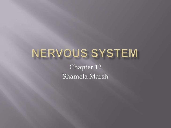 Chapter 12Shamela Marsh