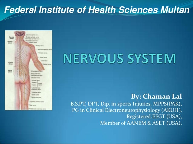 Federal Institute of Health Sciences Multan  By: Chaman Lal B.S.PT, DPT, Dip. in sports Injuries, MPPS(PAK), PG in Clinica...