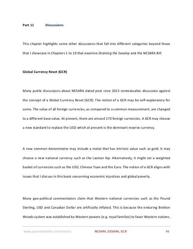 NESARA GESARA Global Current Reset - Draining the Swamp