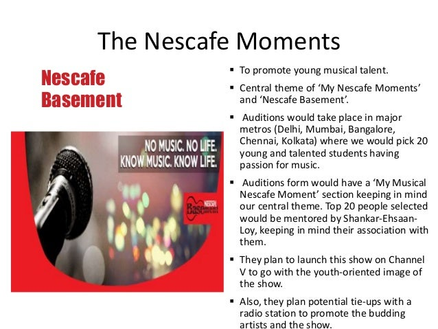 imc strategy nescafe Strategies and programs coke imc imc strategies and plans by taking into consideration all the key elements involved in the developing of an imc campaign strategy such as, deciding on the mix and level of different imc ingredients as advertising, sales promotion, publicity and direct marketing.