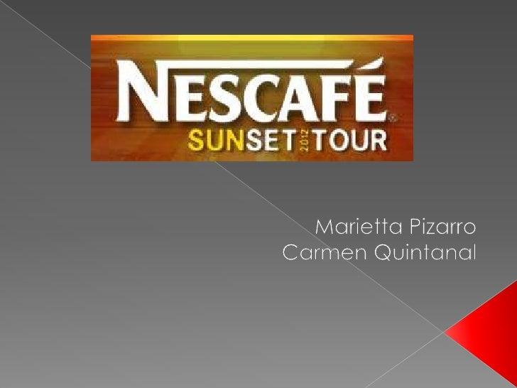 Nescafé  sunset tour 2012