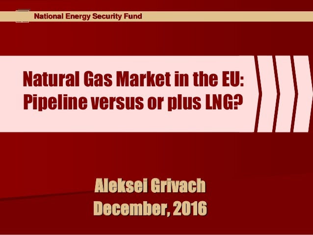 National Energy Security Fund Natural Gas Market in the EU: Pipeline versus or plus LNG? Aleksei Grivach December, 2016