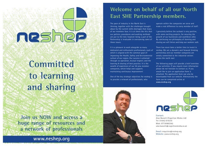 Welcome on behalf of all our North                               East SHE Partnership members.    Neshep                  ...