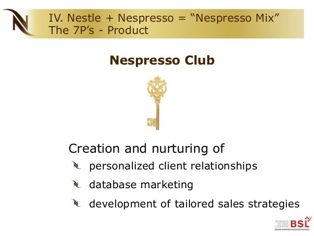 nespresso marketing analysis The nespresso case james g conley  transportation into this new market enabled nespresso to be an early mover in the encapsulated coffee b2b market, and further.