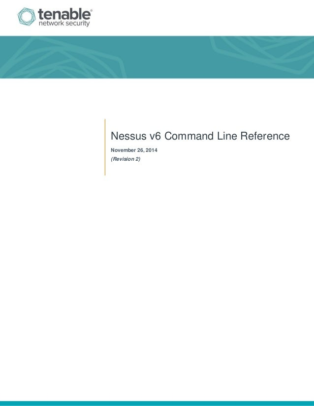 Nessus v6 command_line_reference