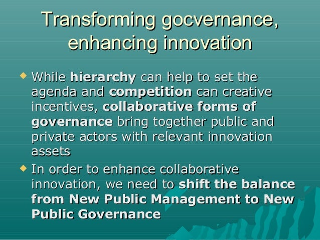 Teaching Collaborative Governance : Enhancing social innovation by rethinking collaboration